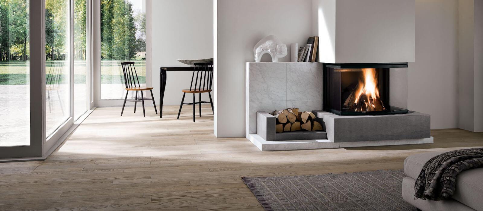 Come Riscaldare Ambienti Grandi riscaldare casa con il termocamino a legna o a pellet